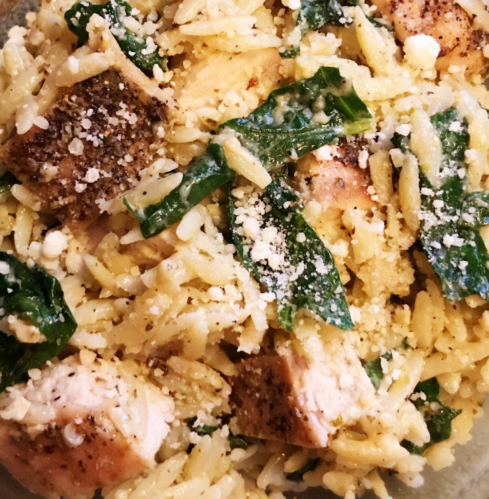Pesto Chicken, Chicken, Dinner, Easy Dinner Recipe, Orzo, Creamy Pesto Chicken