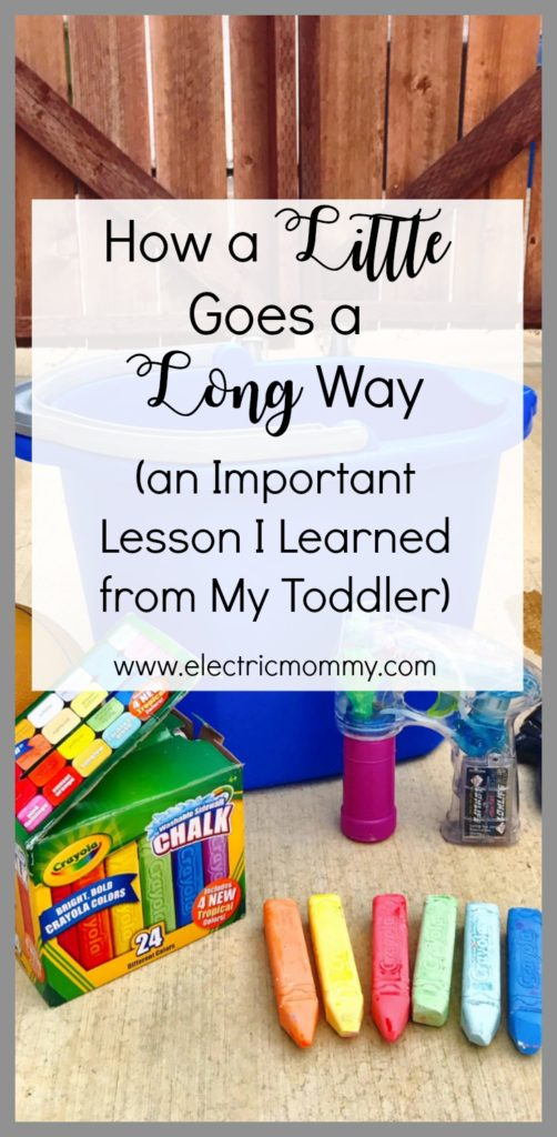 How a Little Goes a Long Way - An Important Lesson I Learned from My Toddler, screen free parenting, motherhood, childhood unplugged