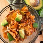 one pan dinner recipe, easy dinner, chicken, chicken enchiladas, mexican dish, easy chicken dinner