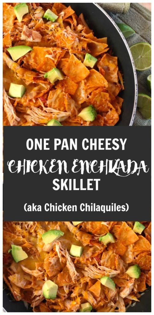 one pan dinner recipe, one pan, chicken, mexican dish, chicken enchiladas, easy dinner recipe