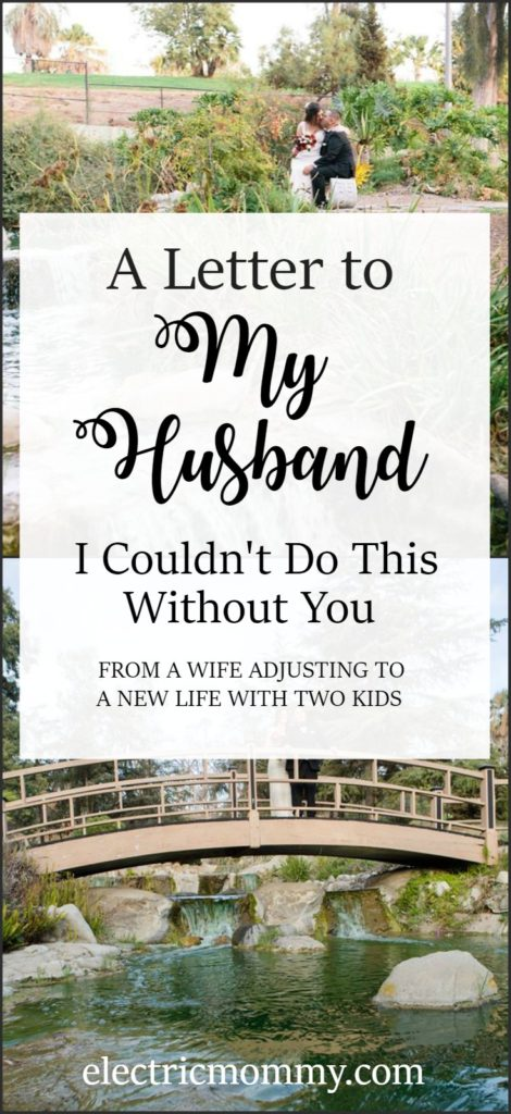 A Letter to My Husband, I Couldn't Do This Without You - Since we welcomed our second baby, our world has changed once again. This time has been tough on me and I wanted to stop and say how much I appreciate what you do. #newparents #lettertomyhusband #lettertohusbandfromwife #depression #postpartumdepression
