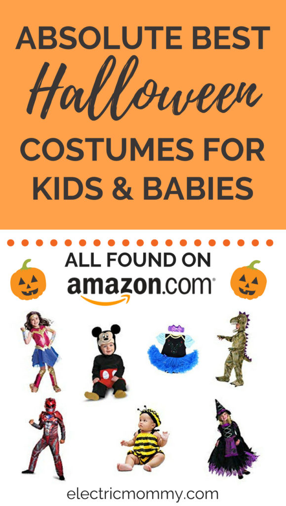 While I was looking for costumes for my girls. I decided to put together my research to help you out too! The best part of this list is everything can be found on Amazon, is a Prime item and has a rating of 4 stars or more. | Best Halloween Costumes for Kids | Best Baby Halloween Costumes | Baby Halloween Costumes | Disney Halloween Costumes | Toddler Costumes | Boys Halloween Costumes #halloween #halloweencostumes #kidscostumes #babycostumes #disneycostumes #halloweencostumesforkids