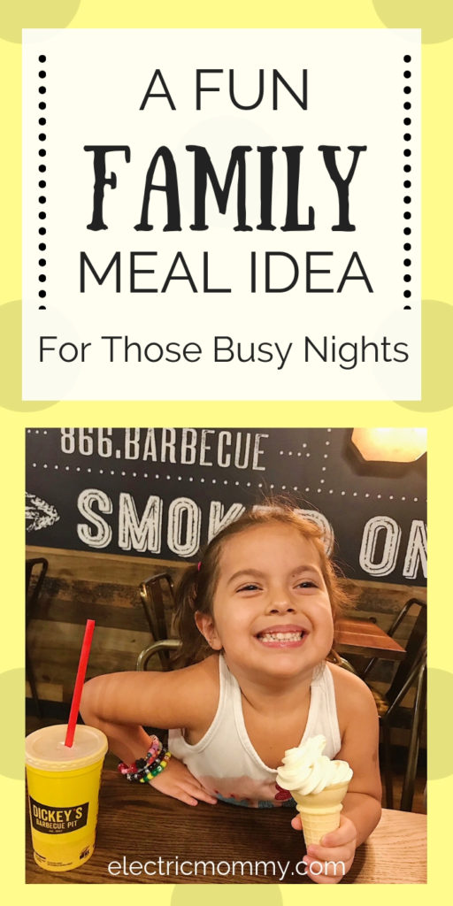 I try to cook as much as possible but some nights we are so busy and it's just easier to go somewhere to eat. We tried Dickey's and fell in love! The food is awesome and even my picky toddler approved. | Easy Dinner Ideas | Sunday Dinner Ideas | Family Restaurant | Family Dinner Ideas | Quick and Easy Dinner #RibsAndABigYellowCup #DickeysBarbecuePit #BigYellowCup #AllYouCanEatRibs #LegitTexasBarbecue #CraftedForNapkins #Shop #Cbias #FamilyMeals #FamilyRestaurant