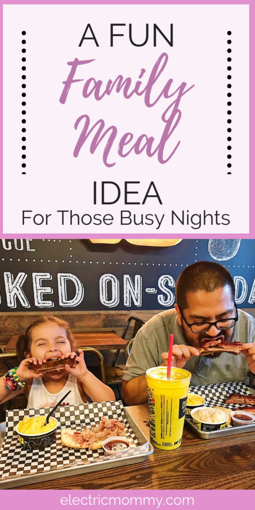 We are always on the lookout for good spots to eat for the whole family. Dickey's is one of those places! Read on for how we turned this awesome special they have into a game. | Easy Dinner Ideas | Sunday Dinner Ideas | Family Restaurant | Family Dinner Ideas | Quick and Easy Dinner #RibsAndABigYellowCup #DickeysBarbecuePit #BigYellowCup #AllYouCanEatRibs #LegitTexasBarbecue #CraftedForNapkins #Shop #Cbias #FamilyMeals #FamilyRestaurant