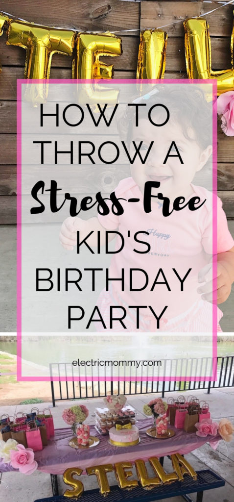Throwing a child's birthday party can be a lot more stressful than I ever imagined, especially when you already have anxiety. Here is how we keep our parties a little more stress-free. | Basic Party Planning Tips | First Birthday | Birthday Party | Birthday Party Advice | Birthday Party Tips | Kids Birthday Party | Kids Bday Party #birthdayparty #kidsbirthdayparty #partyideas #partyplanning #firstbirthday