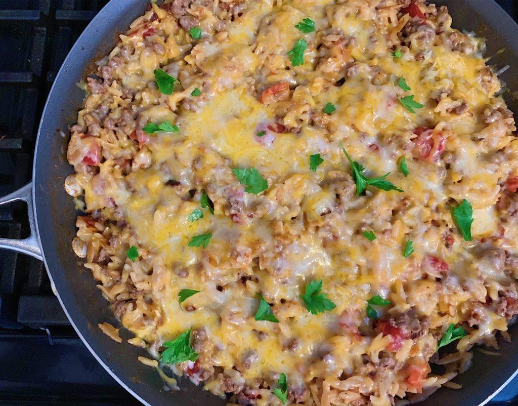 One Pot Meals | One Pot Recipes | Easy Weeknight Meals | Easy Weeknight Meals for Families | One Pot Recipes Pasta | Orzo Recipes